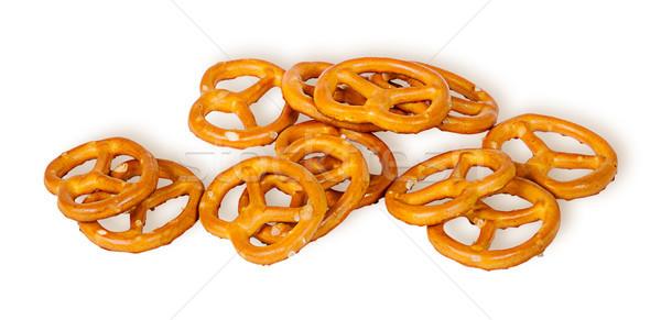 Pile crunchy pretzels with salt Stock photo © Cipariss