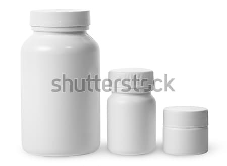 Plastic jars of different sizes for medicines Stock photo © Cipariss