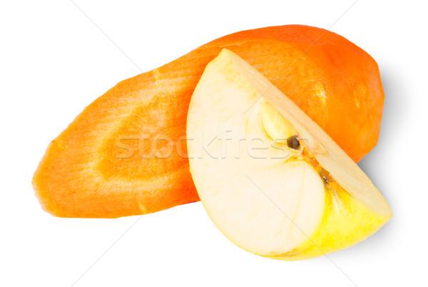 Dilimleri havuç elma yalıtılmış beyaz doku Stok fotoğraf © Cipariss