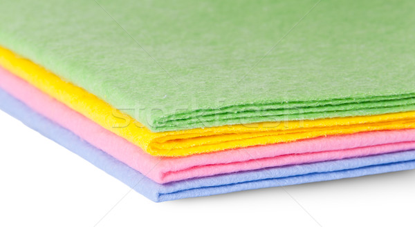 Closeup multicolored cleaning cloths Stock photo © Cipariss