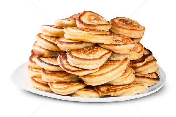 Pile Of Pancakes On A White Plate Rotated Stock photo © Cipariss