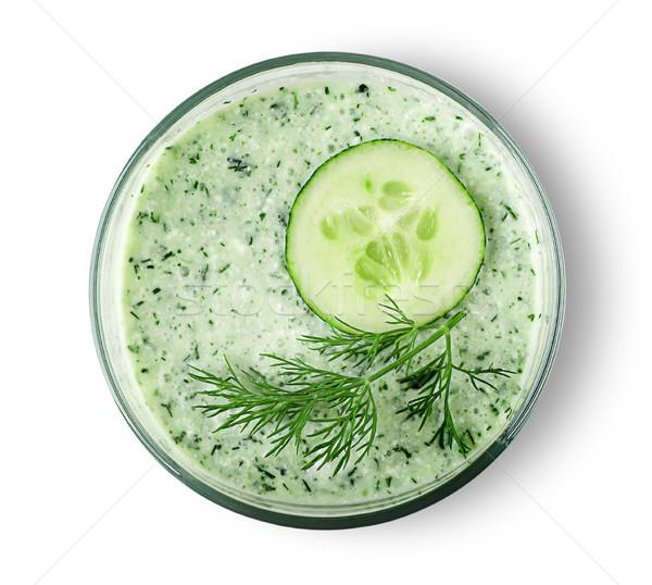 Cucumber smoothie top view Stock photo © Cipariss