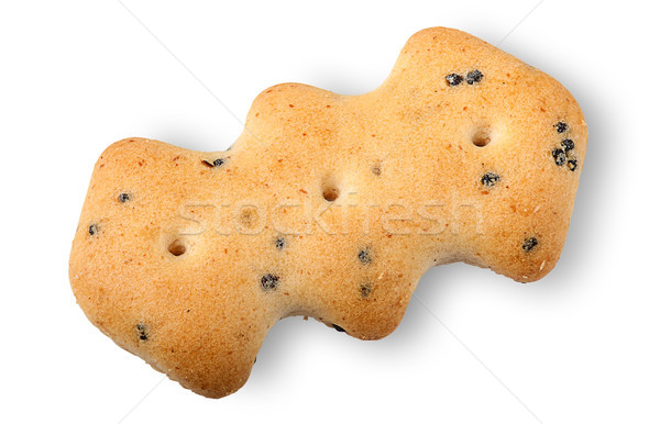 Single crackers with poppy seeds Stock photo © Cipariss