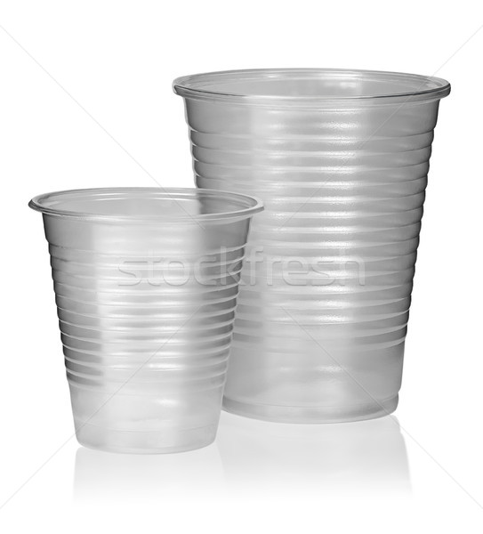 Two different plastic cups vertically Stock photo © Cipariss