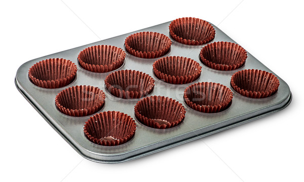 Cupcake and muffin pan with paper cups Stock photo © Cipariss