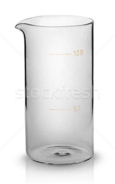 Mér főzőpohár izolált fehér gyógyszer tudomány Stock fotó © Cipariss