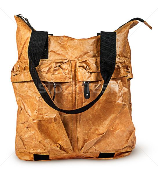 スタイリッシュ エレガントな 紙 女性 ハンドバッグ 孤立した ストックフォト © Cipariss
