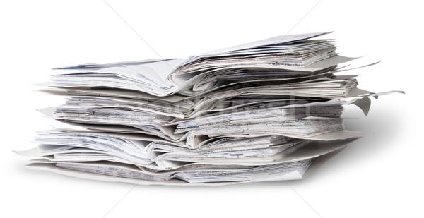 Boglya nyitva akták izolált fehér iroda Stock fotó © Cipariss