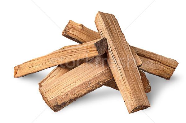 Yakacak odun yalıtılmış beyaz arka plan kış Stok fotoğraf © Cipariss