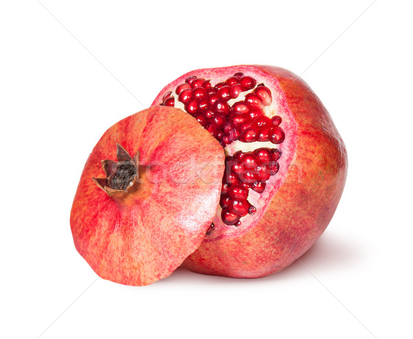 Delicious Exotic Pomegranate Fruit With Lid Near Stock photo © Cipariss