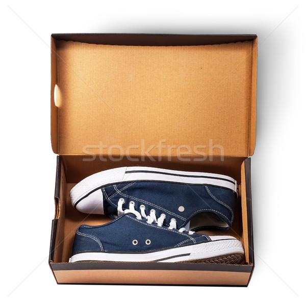 Karanlık mavi spor ayakkabı içinde Stok fotoğraf © Cipariss