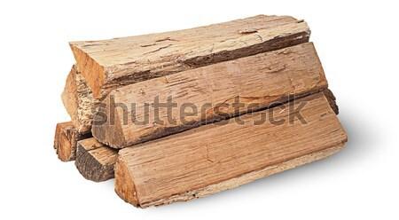 Single log of wood horizontally Stock photo © Cipariss