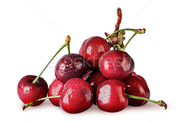 Heap of sweet cherry wet Stock photo © Cipariss