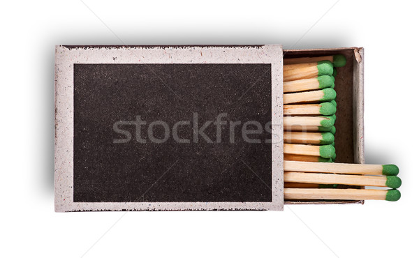 Open box of matches top view Stock photo © Cipariss