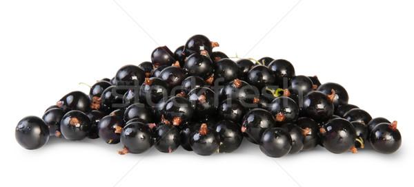 свежие черный смородина изолированный белый фрукты Сток-фото © Cipariss
