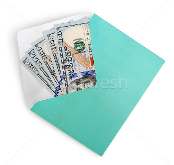 Dollár bankjegyek boríték izolált fehér bank Stock fotó © Cipariss