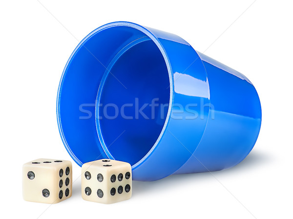 Gaming dice and cup Stock photo © Cipariss