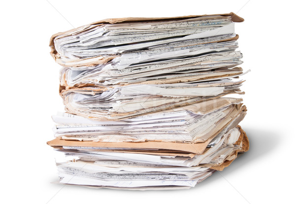 Old Files Stacking Up In A Messy Order Rotated Stock photo © Cipariss