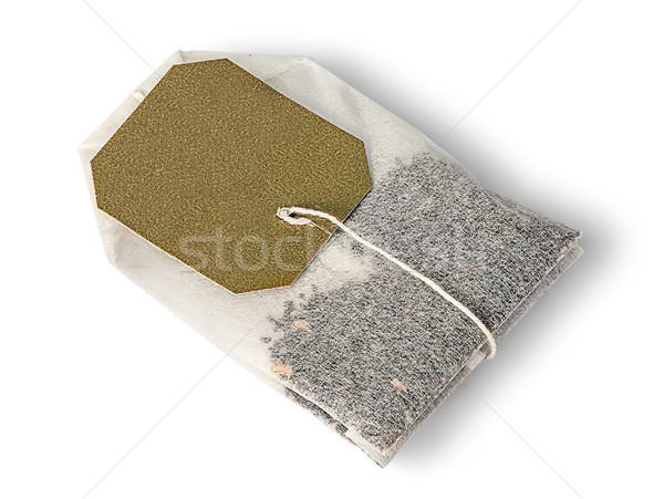 Tea táska izolált fehér étel zöld Stock fotó © Cipariss