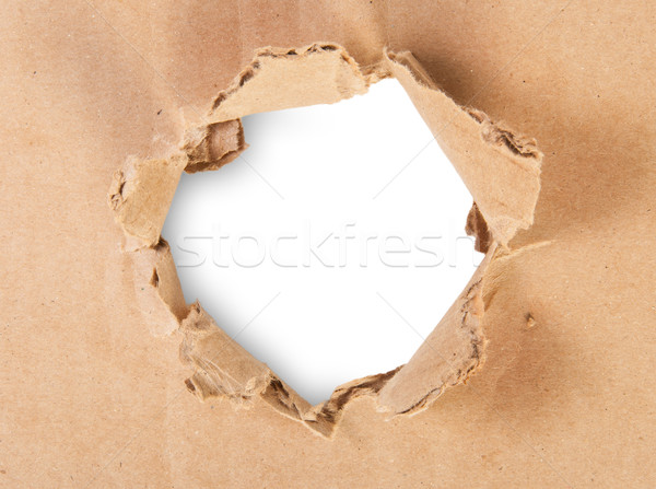 Ripped Hole In Cardboard Stock photo © Cipariss