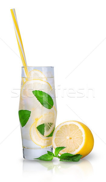 Lemonade with mint and ice Stock photo © Cipariss