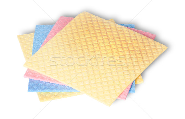 Stack of multicolored sponges for dishwashing Stock photo © Cipariss