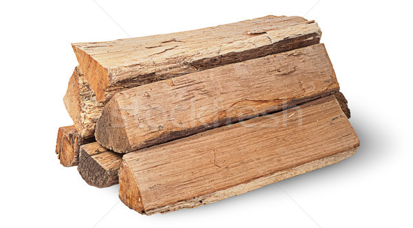 Stack of firewood rotated Stock photo © Cipariss