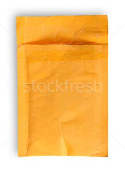 Open used yellow envelope top view Stock photo © Cipariss