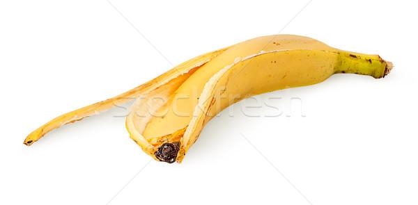 Elöl banán bőr izolált fehér étel Stock fotó © Cipariss
