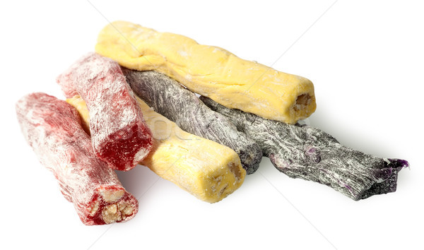 Several pieces of Turkish Delight in a row Stock photo © Cipariss
