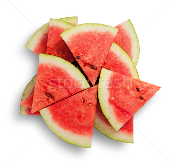 Slices of watermelon in a chaotic stack Stock photo © Cipariss