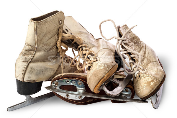 Pile of old female skates Stock photo © Cipariss