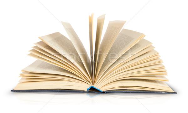 Eski açık kitap yalıtılmış beyaz kâğıt kitap Stok fotoğraf © Cipariss
