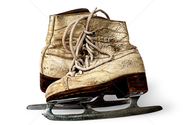 One pair of women skates are towards each other Stock photo © Cipariss