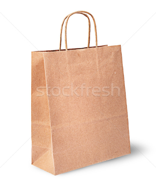 Empty open brown paper bag for food vertically Stock photo © Cipariss