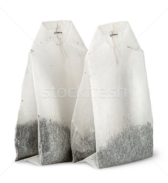 Iki çay çanta diğer yalıtılmış beyaz Stok fotoğraf © Cipariss