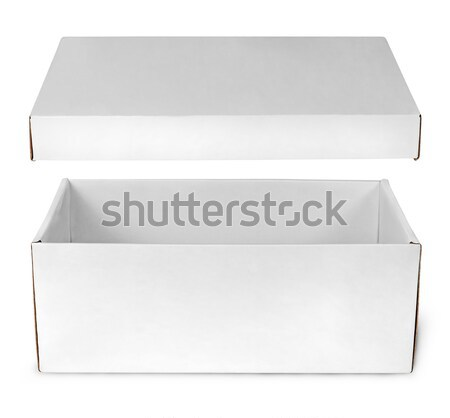 Open empty white box with lid Stock photo © Cipariss