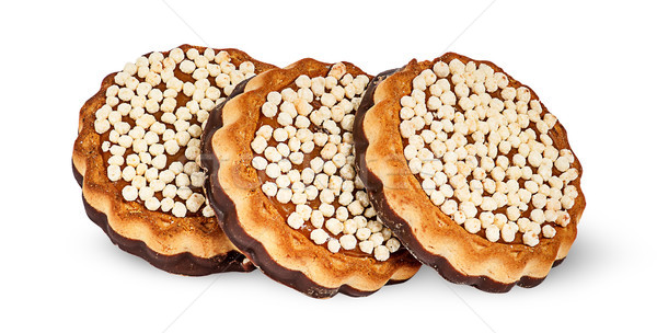 Three chocolate cookies Stock photo © Cipariss