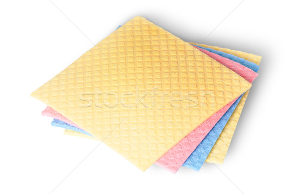 On top multicolored sponges for dishwashing Stock photo © Cipariss