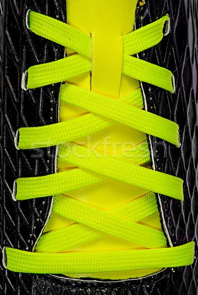 Closeup of yellow laces Stock photo © Cipariss