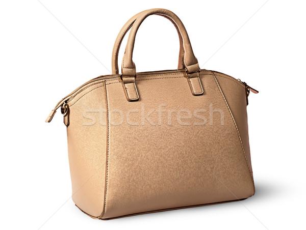 элегантный женщины бежевый сумочка вид сзади изолированный Сток-фото © Cipariss