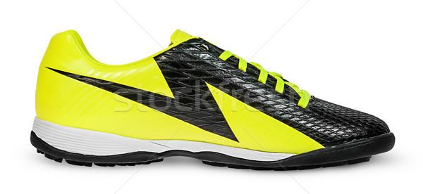 Stock photo: Unbranded single modern sneaker side view