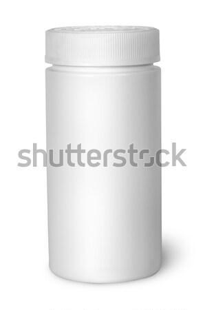 Fehér műanyag üveg vitaminok zárva izolált Stock fotó © Cipariss
