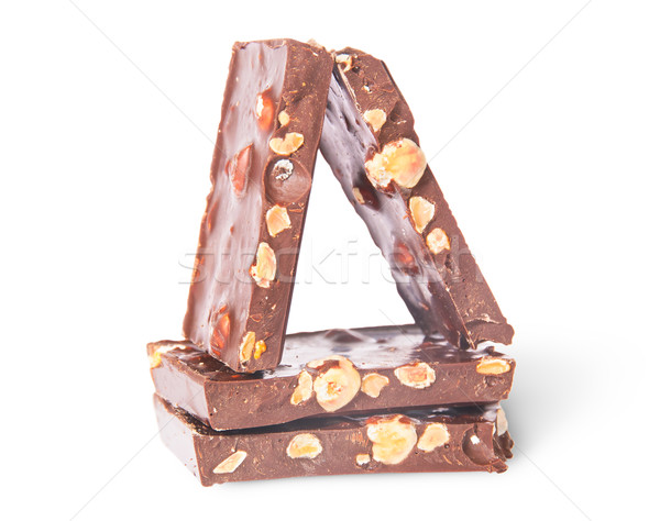 Few chocolate bars stacked on each other Stock photo © Cipariss