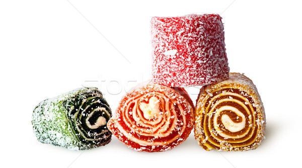 Four different pieces of Turkish delight Stock photo © Cipariss