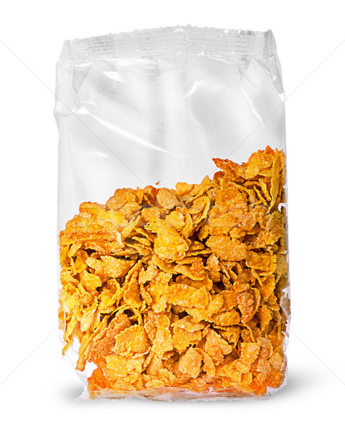 Sealed package of cornflakes vertically Stock photo © Cipariss