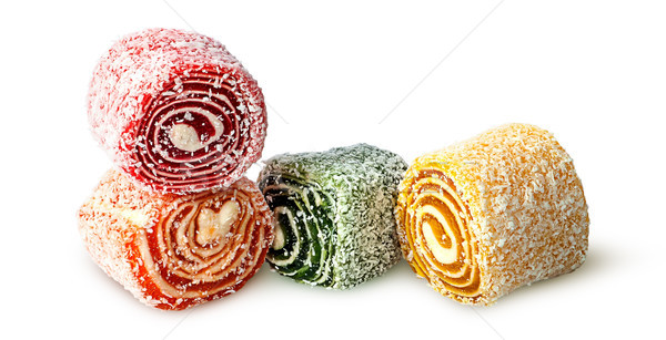 Several pieces of Turkish Delight Stock photo © Cipariss