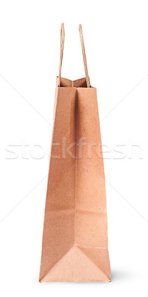 Zdjęcia stock: Pusty · otwarte · torby · papierowe · zakupy · widok · z · boku · odizolowany