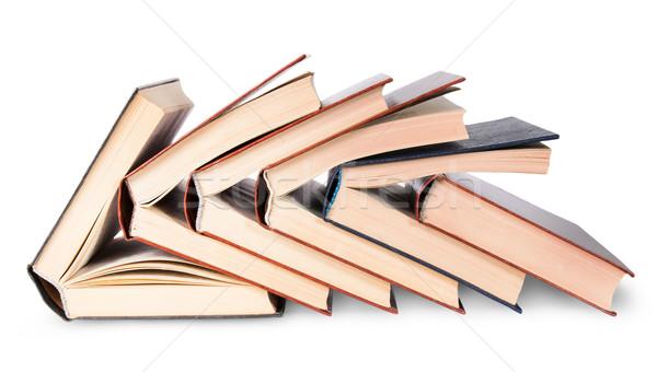 шесть книгах изолированный белый школы Сток-фото © Cipariss