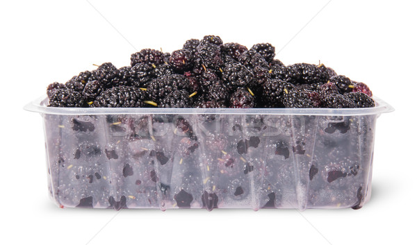 Mulberry in a plastic tray Stock photo © Cipariss
